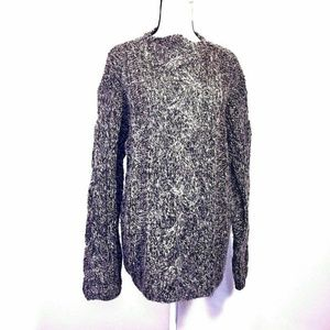 Liz Claiborne Sweater Hand Knit Cable Open Mohair